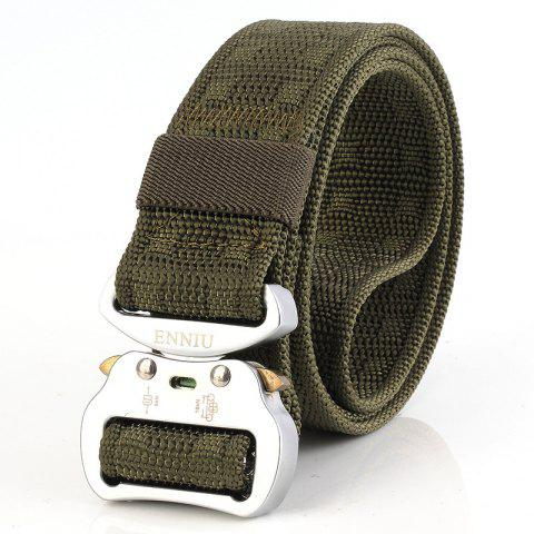 ENNIU 3.8 Aluminum Buckle Tactical Multi-function Nylon Outdoor Training Belt - ARMY GREEN