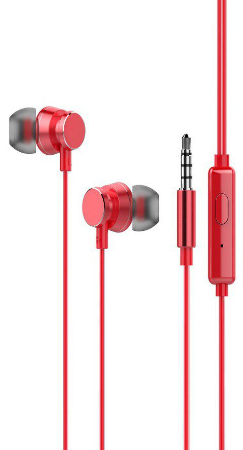 OVEVO S10 High Quality Stereo In-Ear Earphone Control Mic Noise Cancelling - RED