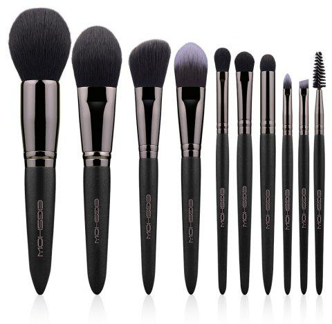 10 PCS VEGAN BRUSH KIT Makeup Brush Set EIGSHOW Makeup Brushes Pink Vegan Cruelt - GUNMETAL