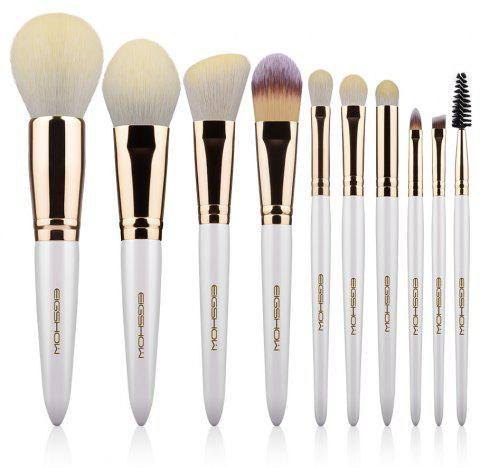 10 PCS VEGAN BRUSH KIT Makeup Brush Set EIGSHOW Makeup Brushes Pink Vegan Cruelt - CHAMPAGNE GOLD
