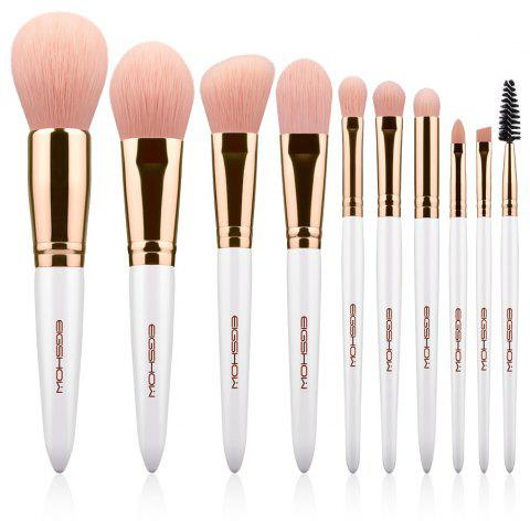 10 PCS VEGAN BRUSH KIT Makeup Brush Set EIGSHOW Makeup Brushes Pink Vegan Cruelt - ROSE GOLD