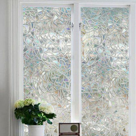 3D Geometry PVC Window Film Wall Sticker - TRANSPARENT