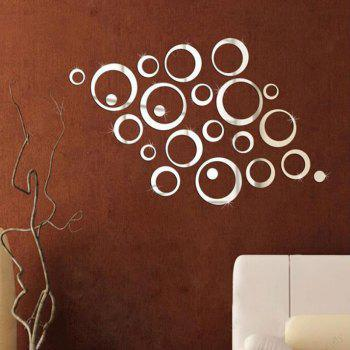 Decorative Mirror Wall Stickers - SILVER