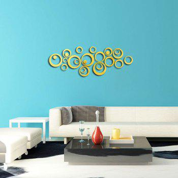 Decorative Mirror Wall Stickers - BRIGHT YELLOW