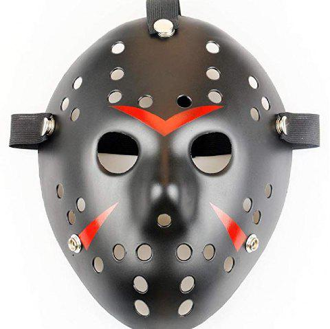 YEDUO   Halloween Masquerade Mask Jason vs Friday The 13th Cosplay Costume - BLACK