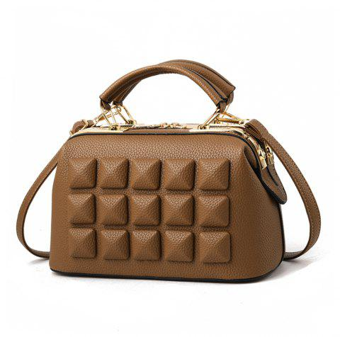 Fashion Trend Women Style Single Shoulder Crossbody Bag - BROWN