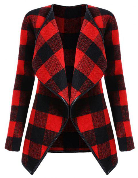 2018 Woolen Coat Big Size Women's Clothing - RED WINE XL