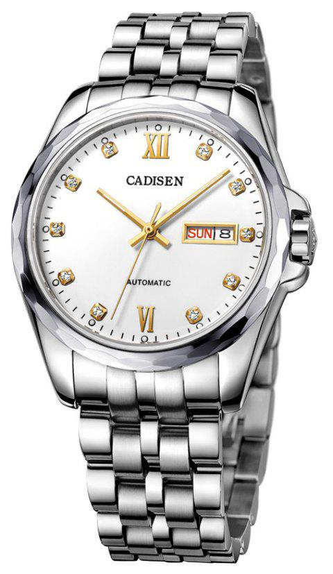 CADISEN C8108M Stainless Steel Imported Mechanical Movement Waterproof Men Watch - WHITE