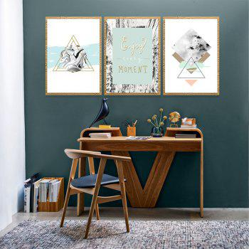 3PCS W609 Geometric Abstract Pattern Frameless Painting - multicolor 50CMX70CMX3PCS