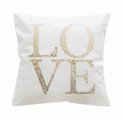 PC042 LOVE Letter Printed Pillowcase - multicolor 45X45CM