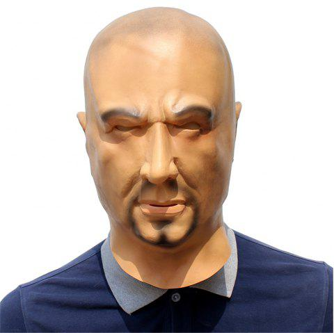 Halloween Cosplay Bad Guy Latex Mask - multicolor