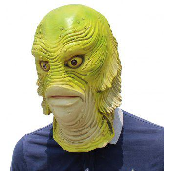 Halloween Cosplay Strange Fish Head Mask for Fancy Ball Party Show - AVOCADO GREEN