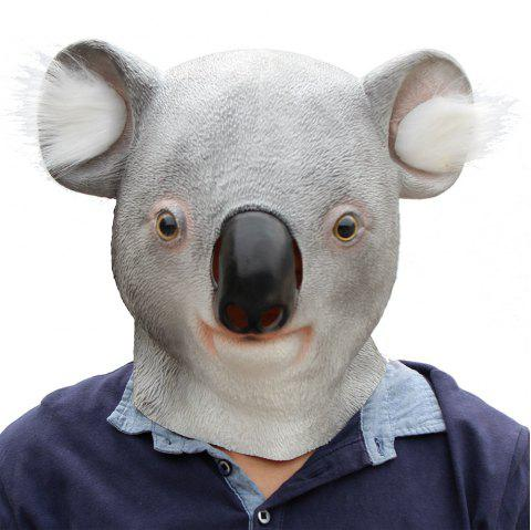 Halloween Cosplay Animal Koala Latex Head Mask - multicolor