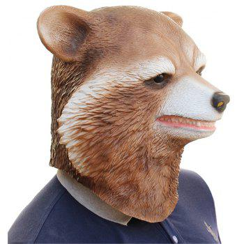 Halloween Cosplay Bear Latex Head Mask for Funny Party Show - multicolor