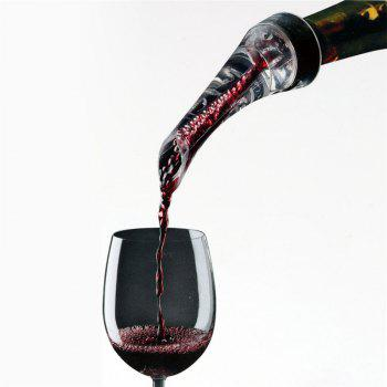 Decanter Red Wine Aérateur Verser Bec Verser Outil - Noir