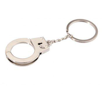 Personality Creative Love Handcuffs Shape  Keychain - SILVER