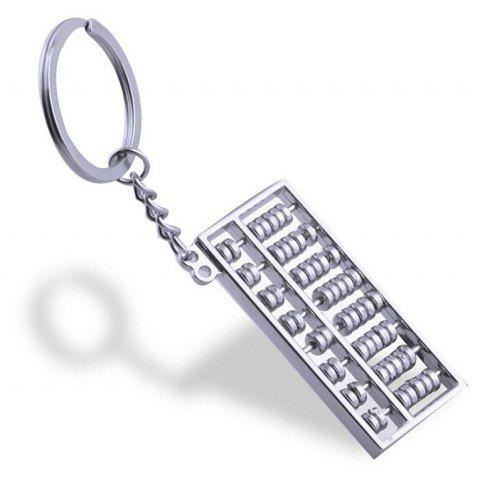Personalized Creative Metal Abacus Key Ring  Chain - SILVER