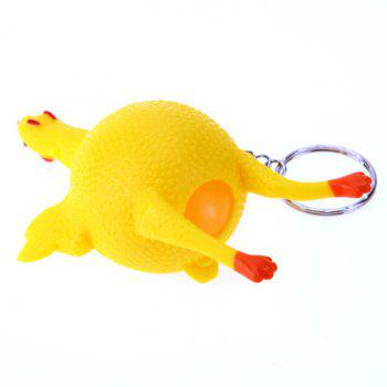 Egg Squirrel Keychain Creative Venting Decompression Tidy Funny Toy - YELLOW