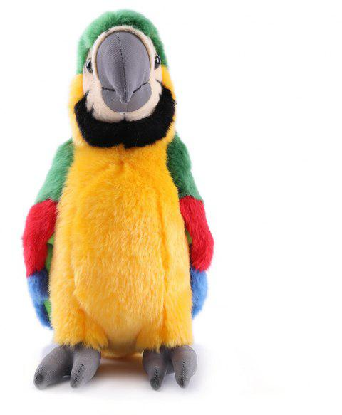 Macaw Stuffed Animal Plush Toy Gifts for Kids 11 Inches - MEDIUM FOREST GREEN