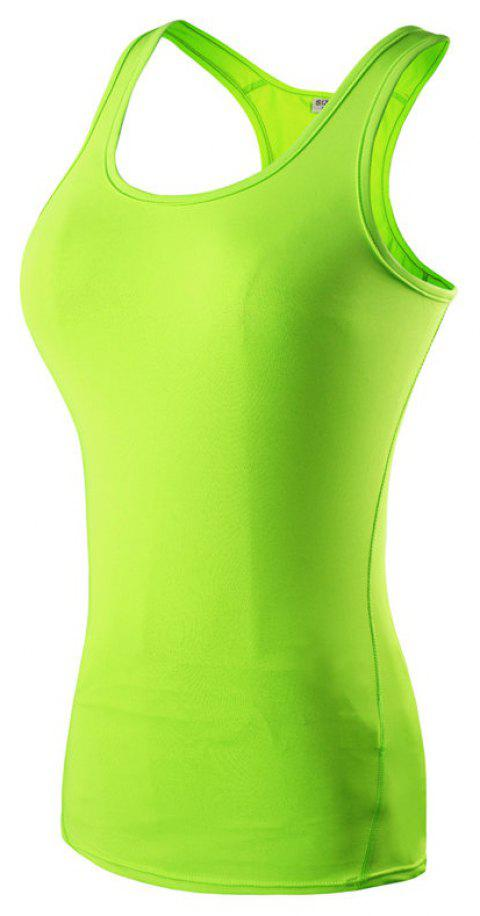 Women's Sports Training Yoga Running Fitness Quick-drying Vest - GREEN S