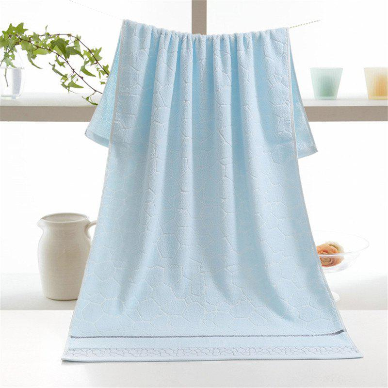 Household Comfortable Bath Towel The Water Cube - CORAL BLUE 70CM*140CM