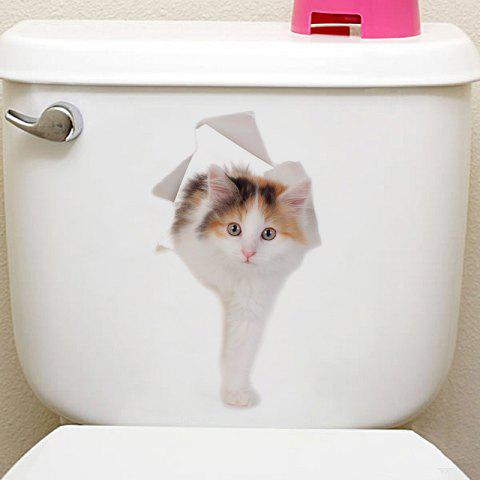 Animals Shapes Toilet PVC Wall Sticker - multicolor J