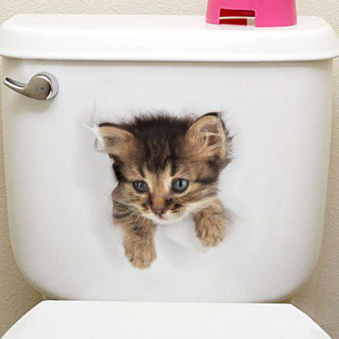 Animals Shapes Toilet PVC Wall Sticker - multicolor F
