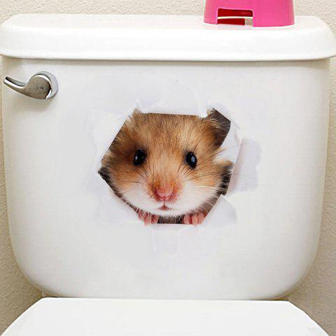 Animals Shapes Toilet PVC Wall Sticker - multicolor G