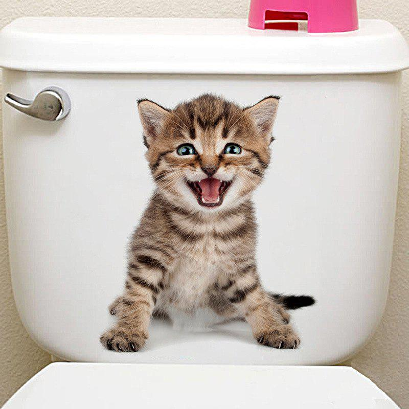 Animals Shapes Toilet PVC Wall Sticker - multicolor A