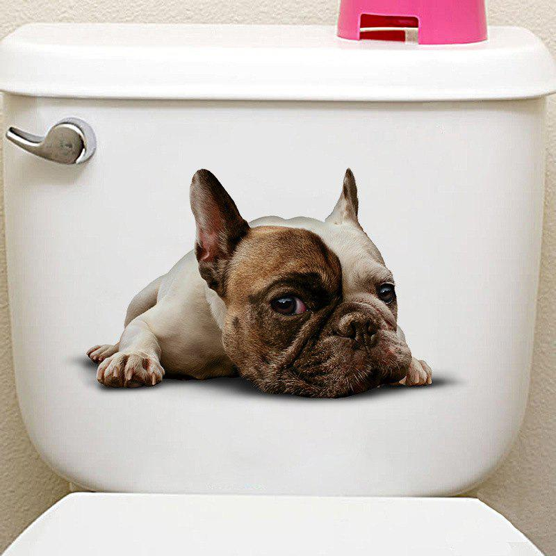 Animals Shapes Toilet PVC Wall Sticker - multicolor H