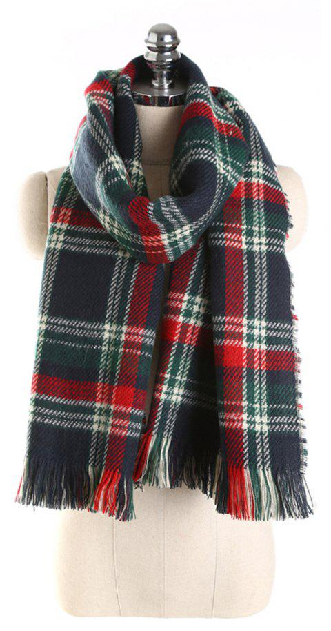 Luxury Double-Sided Lattice Scarf for Spring and Autumn - multicolor
