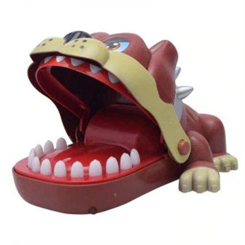 Funny Big Mouth Dog Bite Finger Attention Fidget Toy - RED WINE