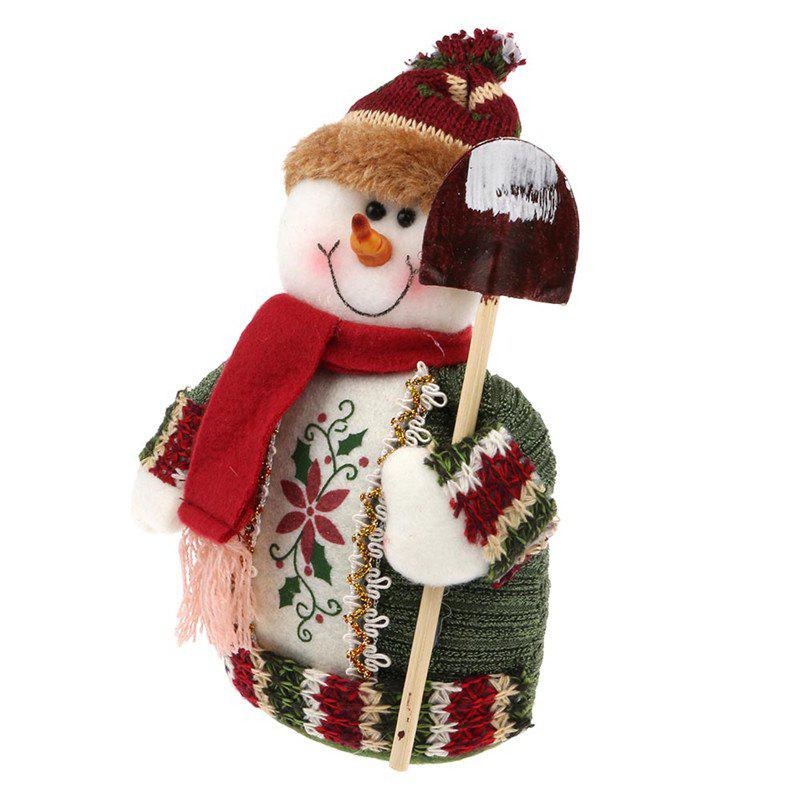 Lovely Doll Snowman Christmas Gift Toy - multicolor C