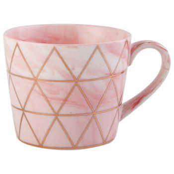 European Style Originality Lrregular Shape A Living Room Household Water Cup - PINK NON GOLD HANDLE-PINK