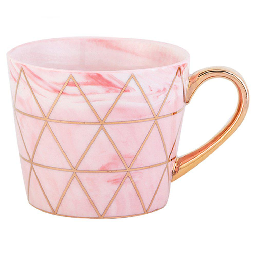 European Style Originality Lrregular Shape A Living Room Household Water Cup - LIGHT PINK GOLD HANDLE-PINK