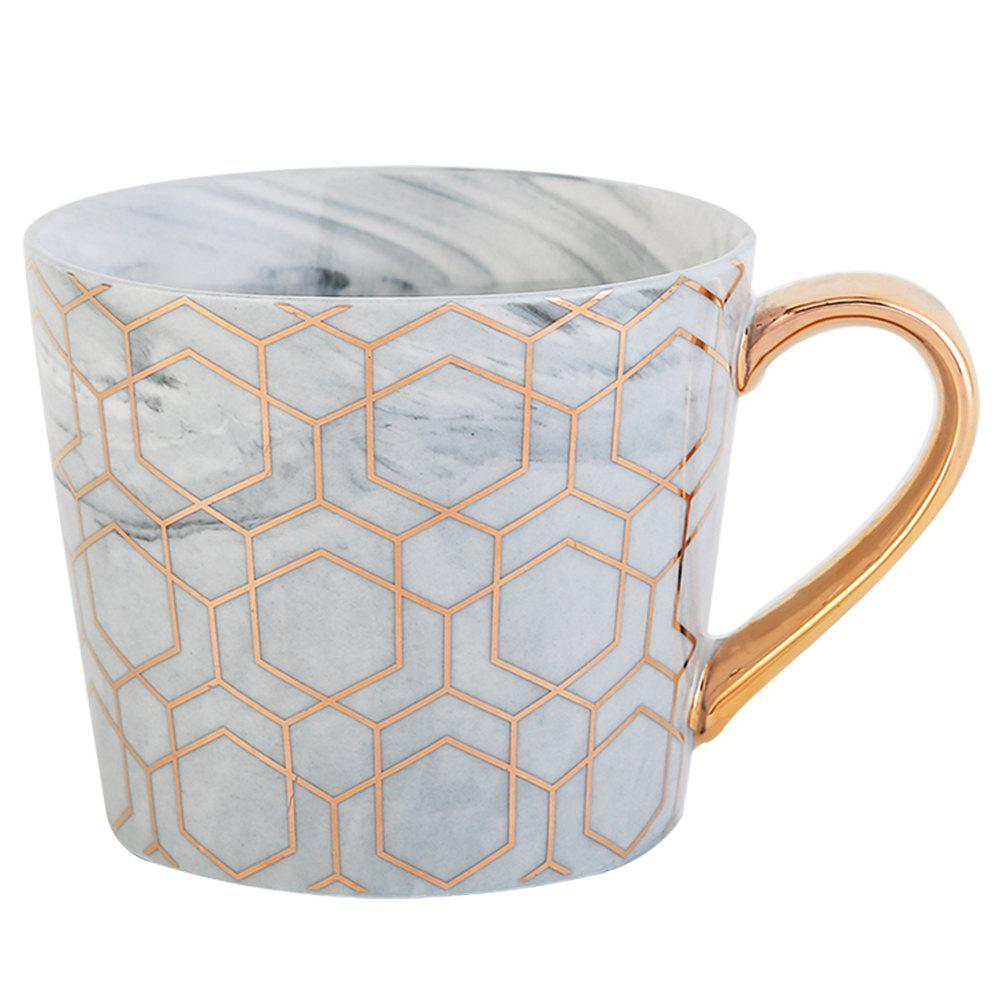 European Style Originality Lrregular Shape A Living Room Household Water Cup - GRAY GOOSE GOLD HANDLE-GRAY