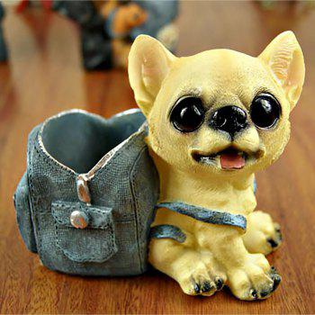 Cartoon Dog Doll with Cowboy Backpack Pen Holder - multicolor B 12*11*7.5CM
