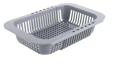 DIHE Kitchen Cistern Extension-Type Rectangle Draining Rack - DARK GRAY