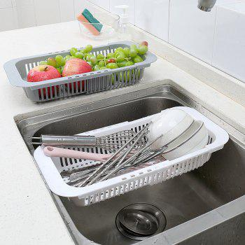 DIHE Kitchen Cistern Extension-Type Rectangle Draining Rack - WHITE