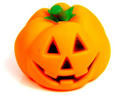 Pet Squeak Chew Toys Pumpkin Design for Halloween - ORANGE