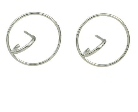 Fashion Minimalist Metal Solid Geometry Earrings - SILVER
