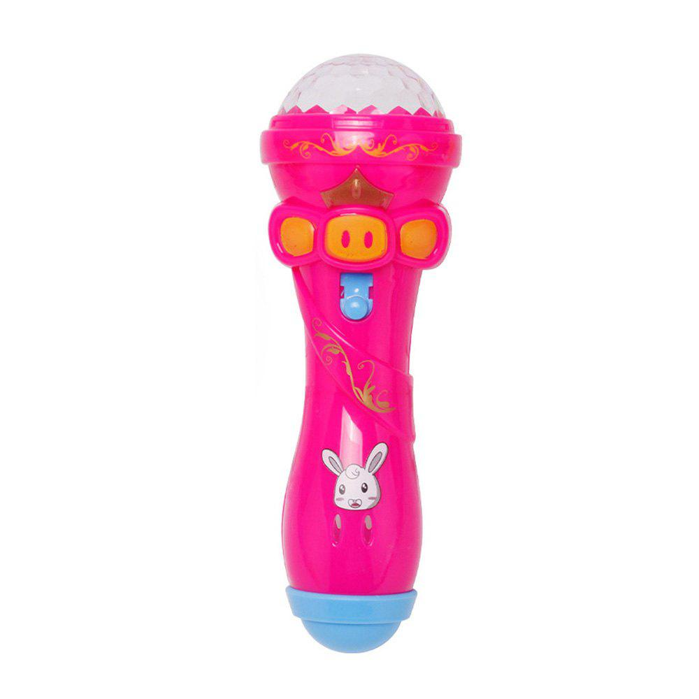 Emulated Music Toys Funny Lighting Wireless Microphone Model - PINK