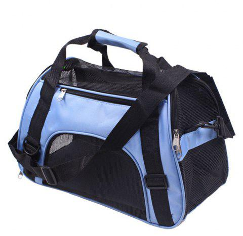 Portable Pet Folding Crossbody Bag - SKY BLUE L