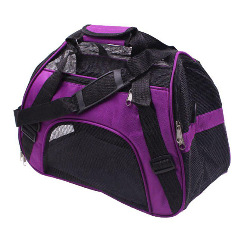 Portable Pet Folding Crossbody Bag - PURPLE FLOWER M