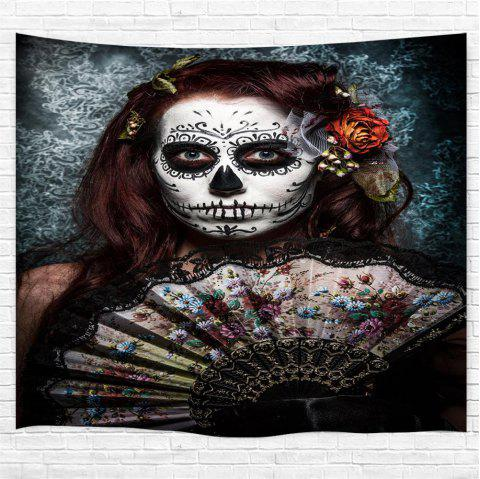 Skull-Faced Woman 3D Printing Home Wall Hanging Tapestry for Decoration - multicolor W153CMXL130CM