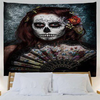 Skull-Faced Woman 3D Printing Home Wall Hanging Tapestry for Decoration - multicolor W153CMXL102CM