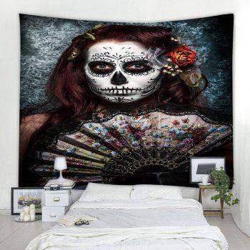 Skull-Faced Woman 3D Printing Home Wall Hanging Tapestry for Decoration - multicolor W203CMXL153CM