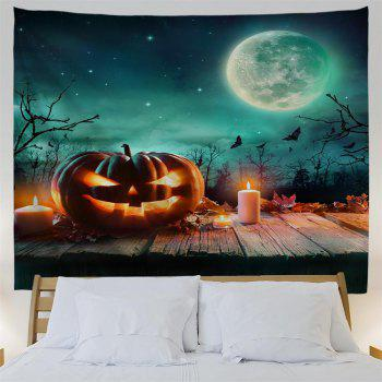 Wooden Pumpkin Candle 3D Printing Home Wall Hanging Tapestry for Decoration - multicolor W229CMXL153CM