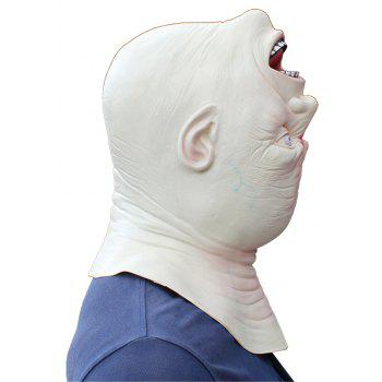 Halloween Cosplay Latex Head Masque - multicolor
