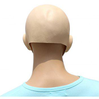 Halloween Cosplay Prop Baldheaded Beauty Masque Tête Latex - multicolor